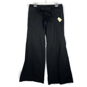 NEW-Billy Blues Belted Wide Leg Flare Cotton Pants
